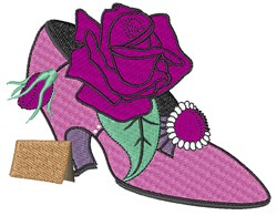 Rose Shoe embroidery design