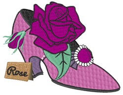High Heel Rose embroidery design
