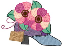 Pansy Shoe embroidery design