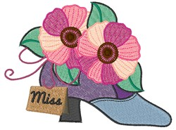 Miss Shoe embroidery design