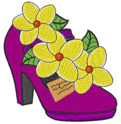 Plumeria High Heel embroidery design