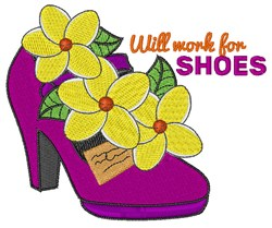 Work For Shoes embroidery design