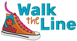 Walk The Line embroidery design