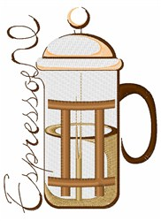 Espresso embroidery design