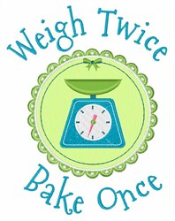 Weight Twice embroidery design