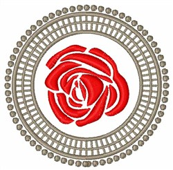 Circle Rose embroidery design