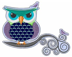 Angry Owl embroidery design