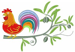 Rooster embroidery design