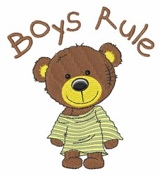 Boys Rule embroidery design