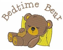 Bedtime Bear embroidery design