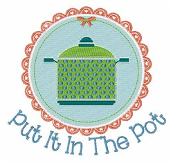 In the Pot embroidery design