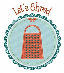 Lets Shred embroidery design