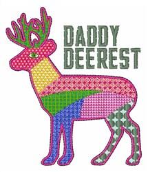 Daddy Deerest embroidery design