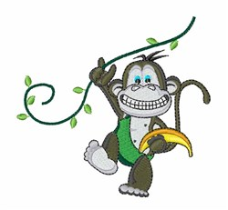 Jungle Monkey embroidery design
