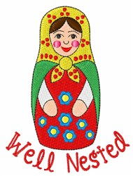 Well Nested embroidery design