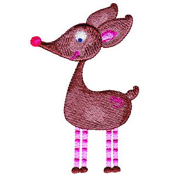 Rudolph embroidery design