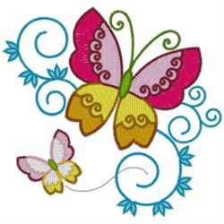 Butterflies embroidery design