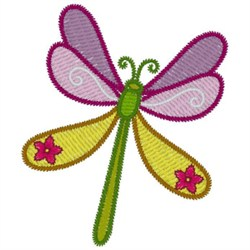 Floral Dragonfly embroidery design