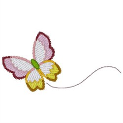 Flying Butterfly embroidery design