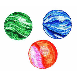Marbles embroidery design