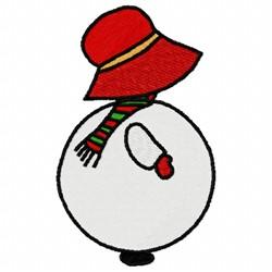 Snowman Sunbonnet embroidery design