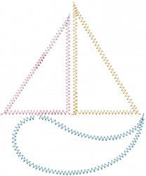 Sailboat Outline embroidery design