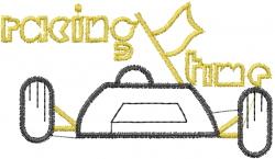 Drag Race Car embroidery design