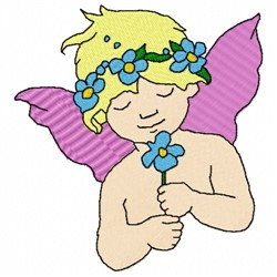 Floral Angel embroidery design