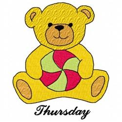 Thursday Teddy Bear embroidery design