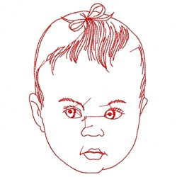 Baby Head Outline embroidery design