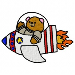 Bear Rocket embroidery design