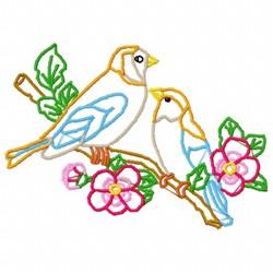 Birds Outline embroidery design