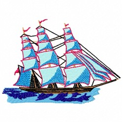 Ship Side embroidery design