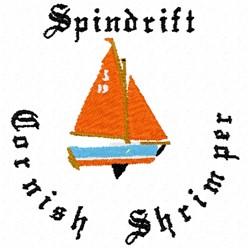 Cornish Shrimper Boat embroidery design