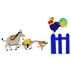 Farm Animal Band embroidery design