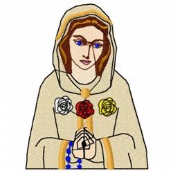 Lady of Fatima embroidery design