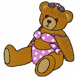 Bikini Bear embroidery design