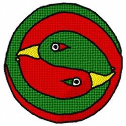 Yin Yang Duck embroidery design