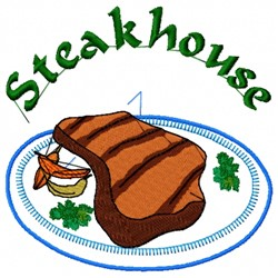 Steak embroidery design