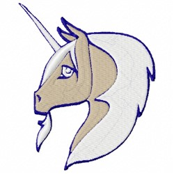 Unicorn Head embroidery design