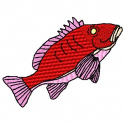 Red Snapper embroidery design