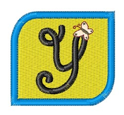 Butterfly Alphabet Y embroidery design