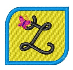 Butterfly Alphabet Z embroidery design
