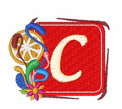 Tropocal Letters C embroidery design