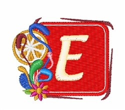 Tropocal Letters E embroidery design