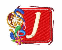 Tropocal Letters J embroidery design