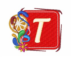 Tropocal Letters T embroidery design