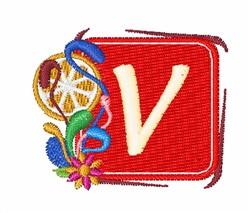 Tropocal Letters V embroidery design