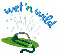 Wet & Wild embroidery design