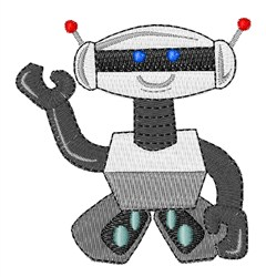 Happy Robot embroidery design